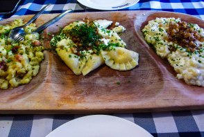 Sampling Slovak food