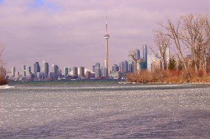 View on the city from Toronto Island
