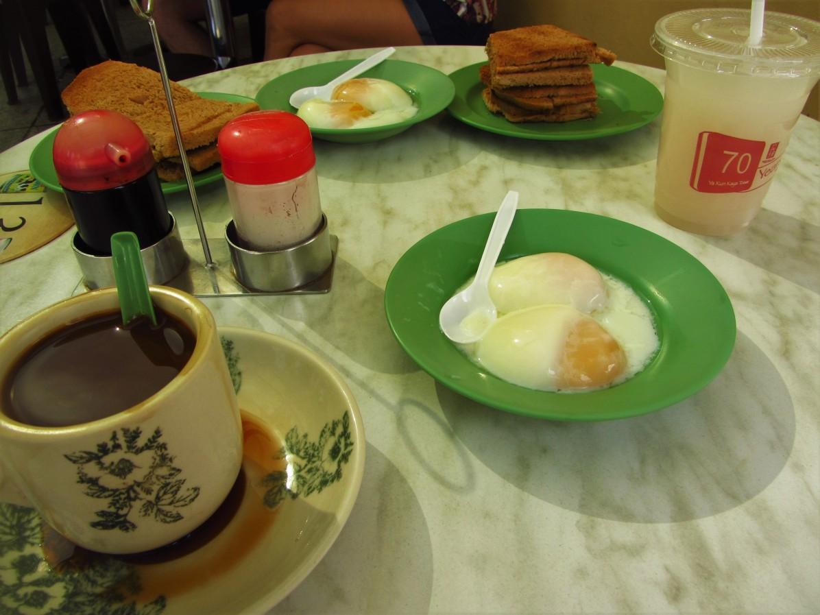Kaya toast in Singapore