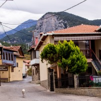 Town at the foot of the Olympus